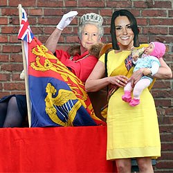 Queen and Kate and George